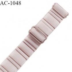 Bretelle lingerie SG 24 mm très haut de gamme couleur brume rosée avec 2 barrettes largeur 24 mm longueur 30 cm prix à l'unité