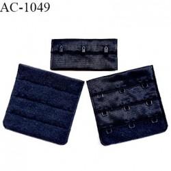 Agrafe 57 mm attache SG haut de gamme couleur bleu marine 3 rangées 3 crochets hauteur 55 mm fabriqué en France prix à l'unité