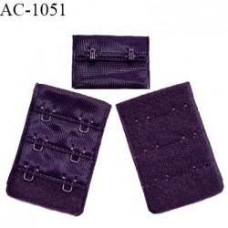 Agrafe 38 mm attache SG haut de gamme couleur violet chianti 3 rangées 2 crochets fabriqué en France prix à l'unité