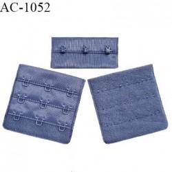 Agrafe 57 mm attache SG haut de gamme couleur encre bleue 3 rangées 3 crochets fabriqué en France prix à l'unité