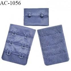 Agrafe 38 mm attache SG haut de gamme couleur encre bleue 3 rangées 2 crochets fabriqué en France prix à l'unité