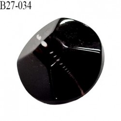 Bouton 27 mm en pvc couleur ébène veiné blanc accroche avec un anneau diamètre 27 mm épaisseur 11 mm prix à la pièce