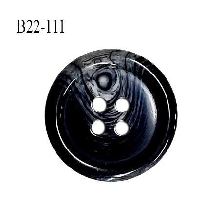 Bouton 22 mm en pvc couleur noir anthracite marbré gris diamètre 22 mm épaisseur 4.5 mm prix à l'unité