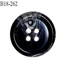 Bouton 18 mm en pvc couleur noir anthracite marbré gris diamètre 18 mm épaisseur 4.5 mm prix à l'unité