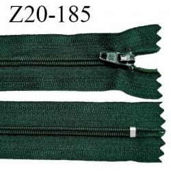 Fermeture zip 20 cm non séparable couleur vert sapin zip glissière nylon invisible largeur 5 mm longueur 20 cm prix à l'unité