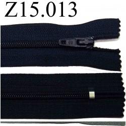 fermeture éclair longueur 15 cm couleur bleu  non séparable zip nylon largeur 2.5 cm