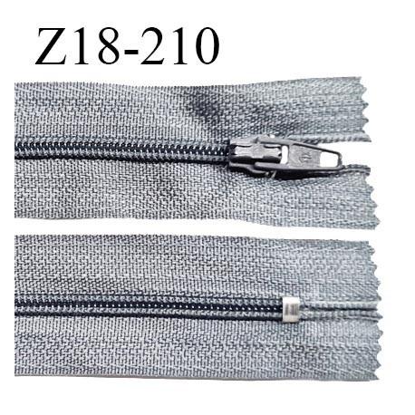 Fermeture zip 18 cm non séparable couleur gris souris zip glissière nylon invisible largeur 5 mm longueur 18 cm prix à l'unité