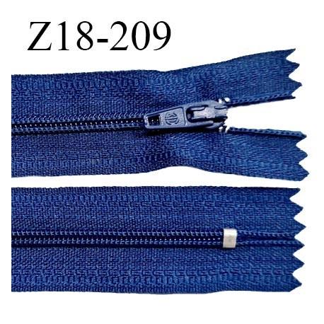 Fermeture zip 18 cm non séparable couleur bleu cobalt zip glissière nylon invisible largeur 5 mm longueur 18 cm prix à l'unité