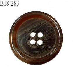 Bouton 18 mm en pvc couleur marron marbré diamètre 18 mm épaisseur 4 mm prix à l'unité