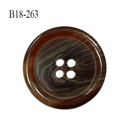 Bouton 22 mm en pvc couleur marron marbré diamètre 22 mm épaisseur 4 mm prix à l'unité