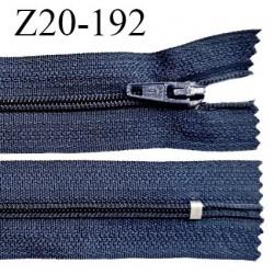 Fermeture zip 20 cm non séparable couleur bleu denim zip glissière nylon invisible largeur 5 mm longueur 20 cm prix à l'unité