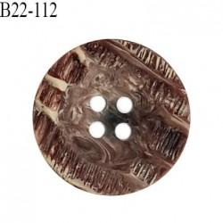 Bouton 22 mm pvc style corne 4 trous diamètre 22 mm épaisseur 4 mm prix à l'unité