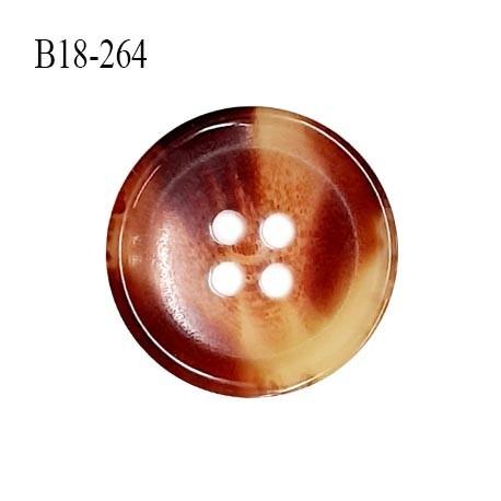 Bouton 18 mm en pvc couleur marron et beige marbré diamètre 18 mm épaisseur 3.5 mm prix à la pièce