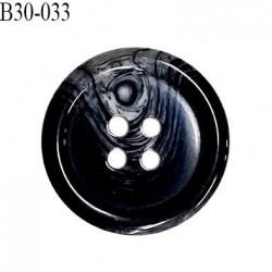 Bouton 31 mm en pvc couleur noir anthracite marbré gris diamètre 31 mm épaisseur 5 mm prix à l'unité