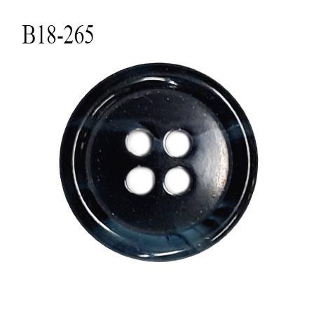 Bouton 18 mm en pvc couleur noir et bleu marbré diamètre 18 mm épaisseur 4 mm prix à la pièce