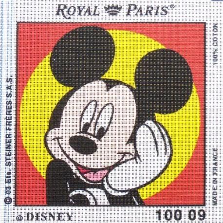 Canevas à broder ENFANT 15 x 15 cm DISNEY marque ROYAL PARIS MICKEY made in France