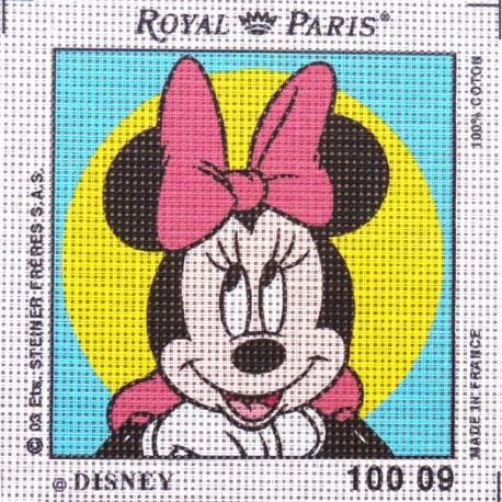 Canevas à broder ENFANT 15 x 15 cm DISNEY marque ROYAL PARIS thème MICKEY MINNIE made in France