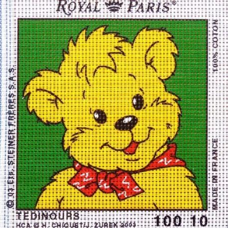 Canevas à broder ENFANT 15 x 15 cm marque ROYAL PARIS thème TEDINOURS