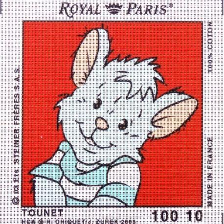 Canevas à broder ENFANT 15 x 15 cm marque ROYAL PARIS thème TEDINOURS TOUNET fabrication française