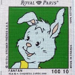 Canevas à broder ENFANT 15 x 15 cm marque ROYAL PARIS thème TEDINOURS FANFAN fabrication française