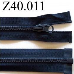 fermeture éclair  longueur 40 cm couleur bleu  séparable zip nylon largeur 2,8 cm