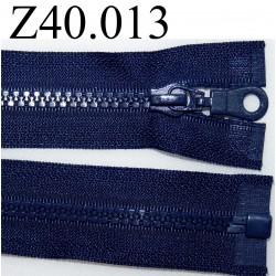 fermeture éclair   longueur 40 cm couleur bleu  séparable zip nylon largeur 3,2 cm largeur du zip moulé 6 mm