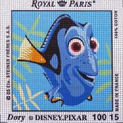 Canevas à broder ENFANT 15 x 15 cm DISNEY PIXAR marque ROYAL PARIS thème NEMO dory made in France