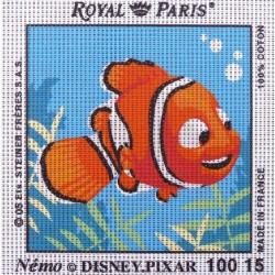 Canevas à broder ENFANT 15 x 15 cm DISNEY PIXAR marque ROYAL PARIS thème NEMO made in France