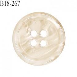 Bouton 18 mm en pvc couleur beige nacré et marbré diamètre 18 mm épaisseur 3 mm prix à la pièce