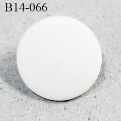Bouton 14 mm pvc couleur naturel mat accroche avec un anneau diamètre 14 mm épaisseur 1.2 mm prix à la pièce