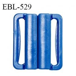 Boucle clip 25 mm attache réglette pvc spécial maillot de bain couleur bleu largeur du passage intérieur 25 mm prix à l'unité
