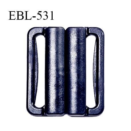 Boucle clip 25 mm attache réglette pvc spécial maillot de bain couleur bleu marine largeur intérieur 25 mm prix à l'unité
