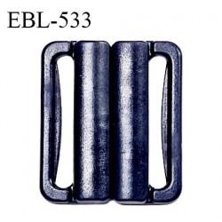 Boucle clip 20 mm attache réglette pvc spécial maillot de bain couleur bleu marine largeur intérieur 20 mm prix à l'unité