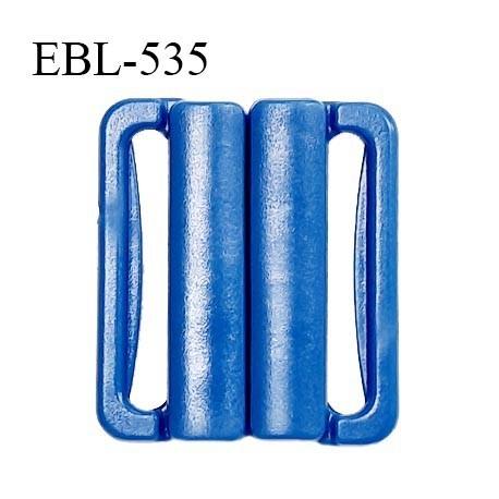 Boucle clip 30 mm attache réglette pvc spécial maillot de bain couleur bleu largeur intérieur 30 mm prix à l'unité