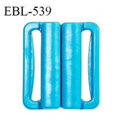Boucle clip 30 mm attache réglette pvc spécial maillot de bain couleur bleu turquoise largeur intérieur 30 mm prix à l'unité