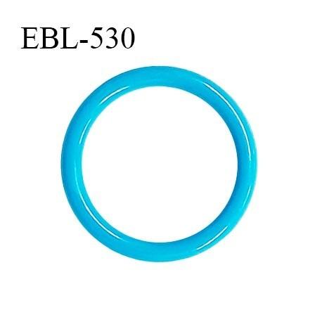 Anneau de réglage 16 mm en pvc couleur bleu turquoise diamètre intérieur 16 mm diamètre extérieur 20 mm prix à l'unité