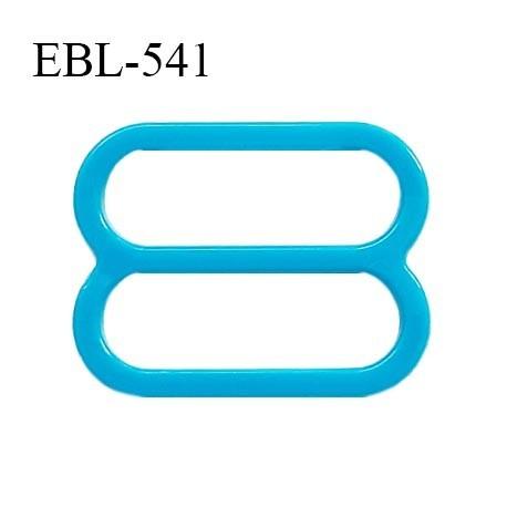 Réglette 17 mm de réglage de bretelle pour soutien gorge et maillot de bain en pvc bleu turquoise intérieur 17 mm prix à l'unité