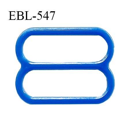 Réglette 19 mm de réglage de bretelle pour soutien gorge et maillot de bain en pvc bleu intérieur 19 mm prix à l'unité