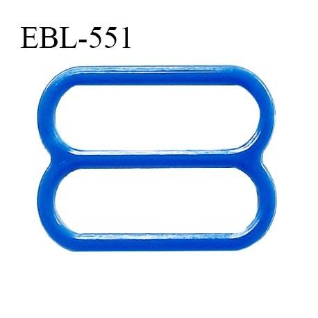 Réglette 15 mm de réglage de bretelle pour soutien gorge et maillot de bain en pvc bleu intérieur 15 mm prix à l'unité