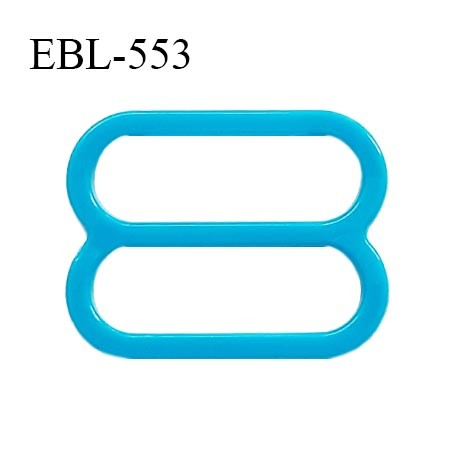 Réglette 15 mm de réglage de bretelle pour soutien gorge et maillot de bain en pvc bleu turquoise intérieur 15 mm prix à l'unité