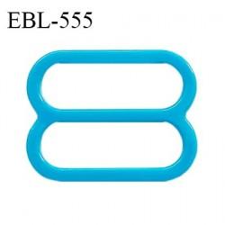 Réglette 19 mm de réglage de bretelle pour soutien gorge et maillot de bain en pvc bleu turquoise intérieur 19 mm prix à l'unité