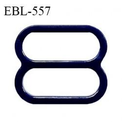 Réglette 15 mm de réglage de bretelle pour soutien gorge et maillot de bain en pvc bleu marine intérieur 15 mm prix à l'unité