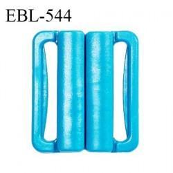 Boucle clip 20 mm attache réglette pvc spécial maillot de bain couleur bleu turquoise intérieur 20 mm prix à l'unité