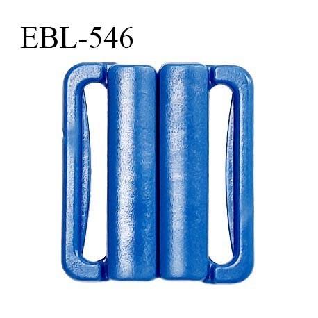 Boucle clip 20 mm attache réglette pvc spécial maillot de bain couleur bleu intérieur 20 mm prix à l'unité