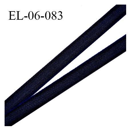 Elastique 6 mm fin spécial lingerie polyamide élasthanne couleur bleu nuit grande marque fabriqué en France prix au mètre