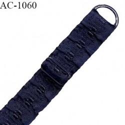 Bretelle 14 mm lingerie SG couleur bleu marine très haut de gamme longueur 35 cm prix à la pièce