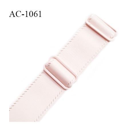 Bretelle lingerie SG 24 mm très haut de gamme couleur rose candy avec 2 barrettes longueur 16 cm + réglage prix à l'unité