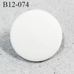 Bouton 12 mm pvc couleur naturel mat accroche avec un anneau diamètre 12 mm épaisseur 1.2 mm prix à la pièce