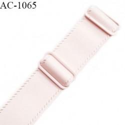 Bretelle lingerie SG 19 mm très haut de gamme couleur rose candy avec 2 barrettes longueur 16 cm + réglage prix à l'unité