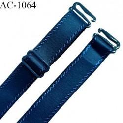 Bretelle lingerie SG 19 mm très haut de gamme couleur bleu paradis longueur 28 cm + réglage prix à l'unité